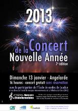 L' Orchestre de l' Ateliers Harmonie ''La Chatelleraudaise en concert avec l'Orchestre de L'Ecole de Cordes du Loudunais et le Quintette de Cuivre de l'Orchestre Poitou-Charentes le 04 Avril 2010, au Nouveaux Théatre de Châtellerault
